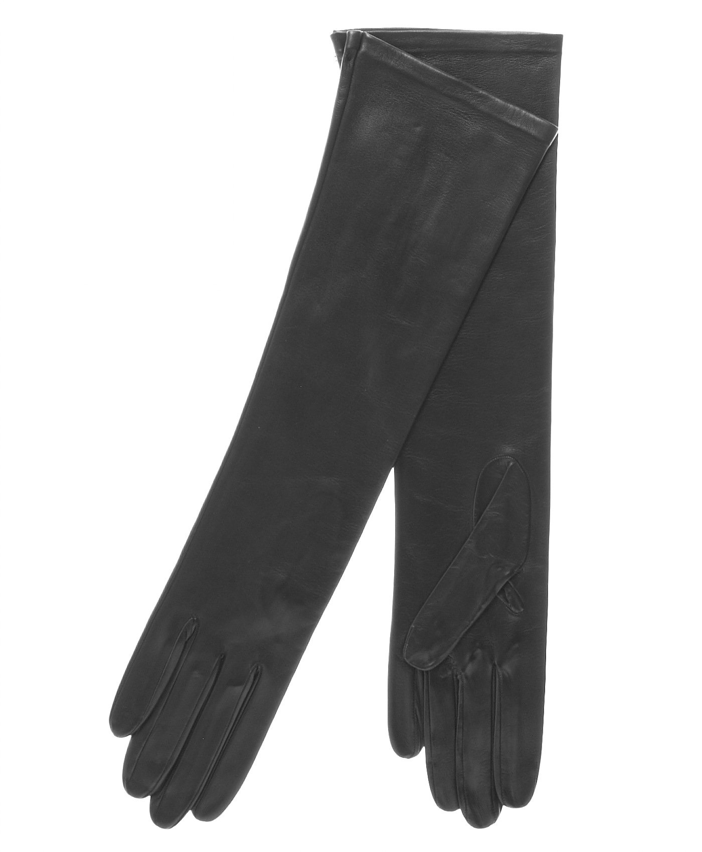 Fratelli Orsini Women's Italian ''8 Button Length'' Unlined Leather Gloves Size 7 Color Black