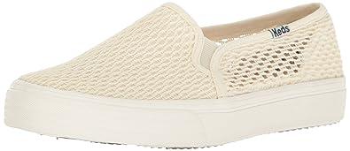 Keds Women's Double Decker Crochet Fashion Sneaker, Cream, ...