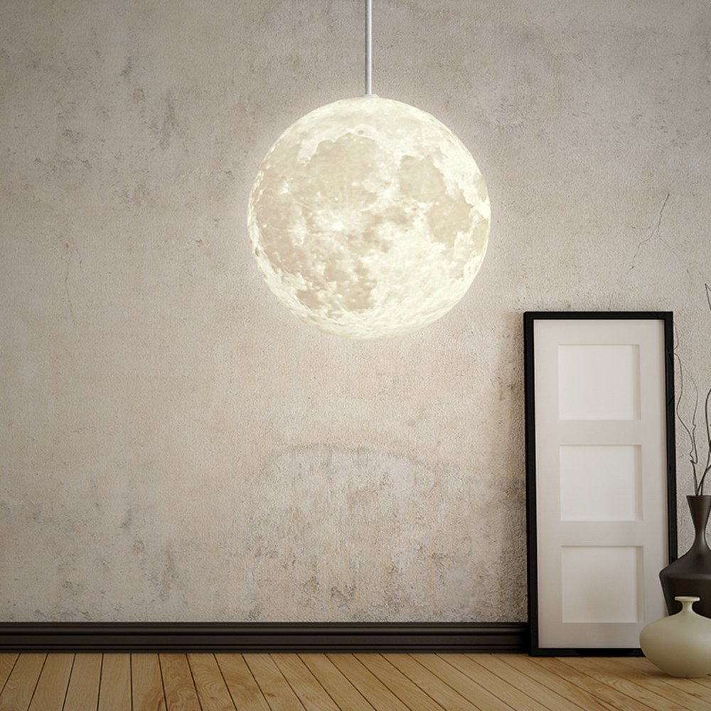 DEVOL Moon 3D Pendant Light Modern Chandelier Contemporary ...