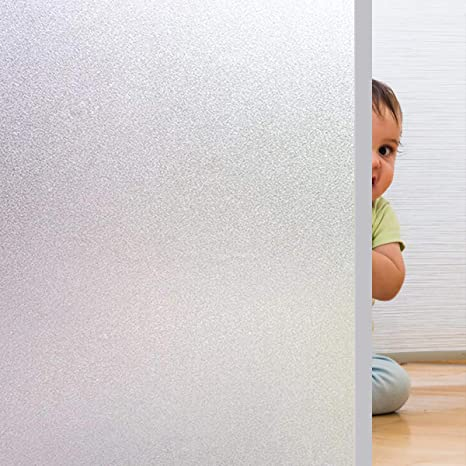 90cm Fensterfolie Selbstklebend Milchglasfolie Blickdicht Sichtschutzfolie 1//2m