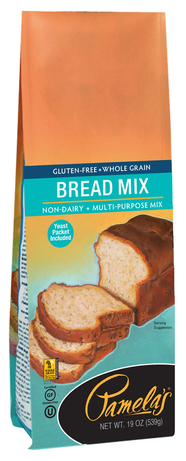 Pamela's Products Gluten Free, Bread Mix, 19 Ounce Packages (Pack of 6) by Pamela's Products
