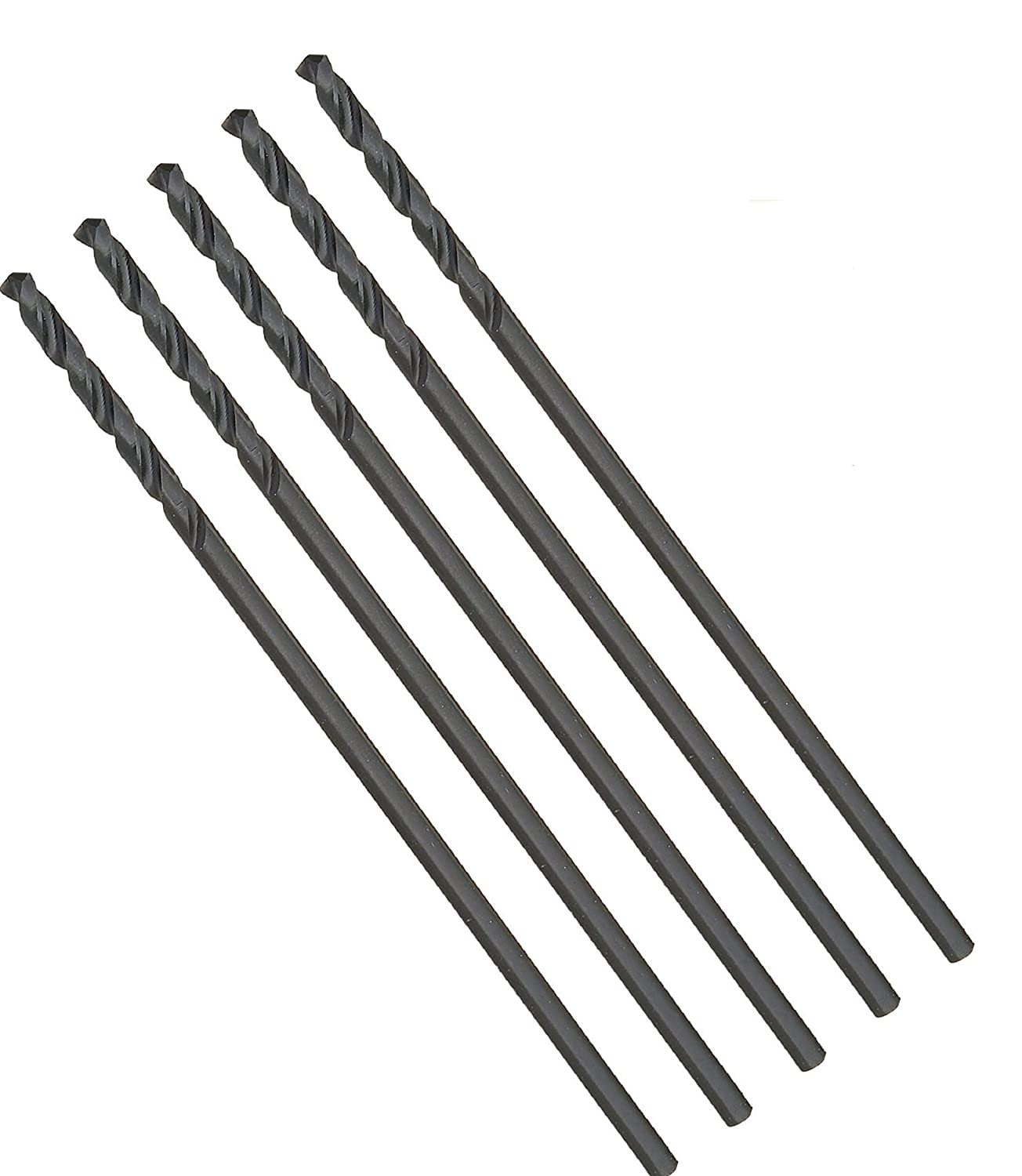 3 Pcs Pack 1/2 Inch High Speed Steel HSS Aircraft Extension Long Drill Bits Length 12 Inch, 135 Degree,Split Point, Drilling deep holes in metal and Steel Bright Finished (1/2 x 12 inch) MAX-CRAFT