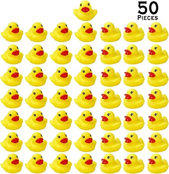 8 Mini Rubber Floating Duckies Baby Shower Birthday Party Favors TUB Toys