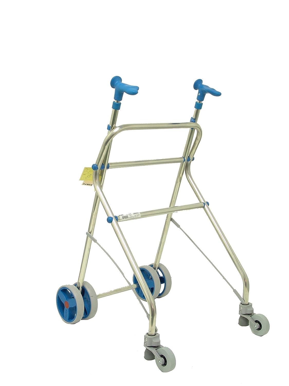 Andador de aluminio para ancianos Rollatino Forta fabricaciones Azul