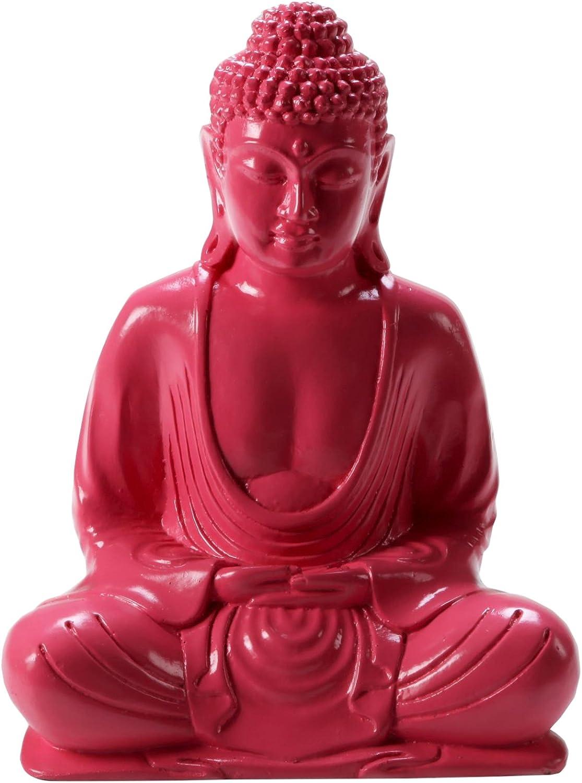 Pinks Boutique Bouddha Statue de r/ésine Rose