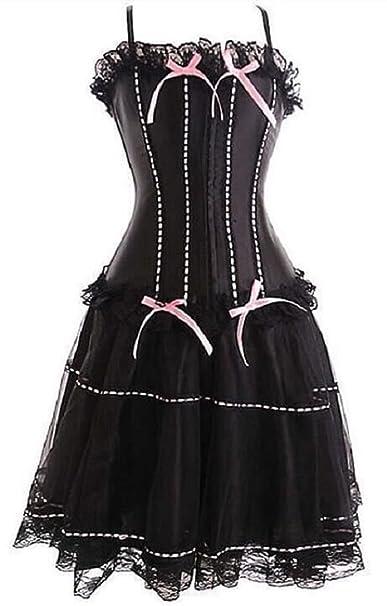 240f30d8cd Amazon.com  Lorembelle Moulin Rouge Corset   Skirt Fancy Dress Outfit  Costume Plus sizes  Clothing