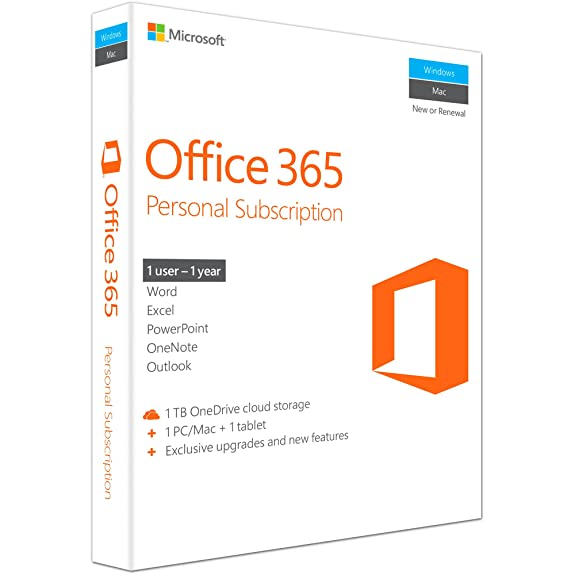Microsoft Office 365 Personal 1 User 1 Year..
