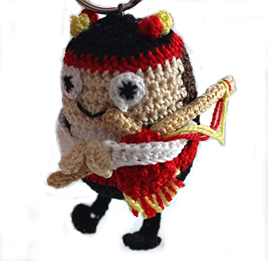 Muñeco minium gaitero gallego, fabricado a mano.Calcetado, relleno ...