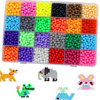 Amazon Com Wenasi Diy Art Crafts Toys Water Sticky Beads 24 Colors