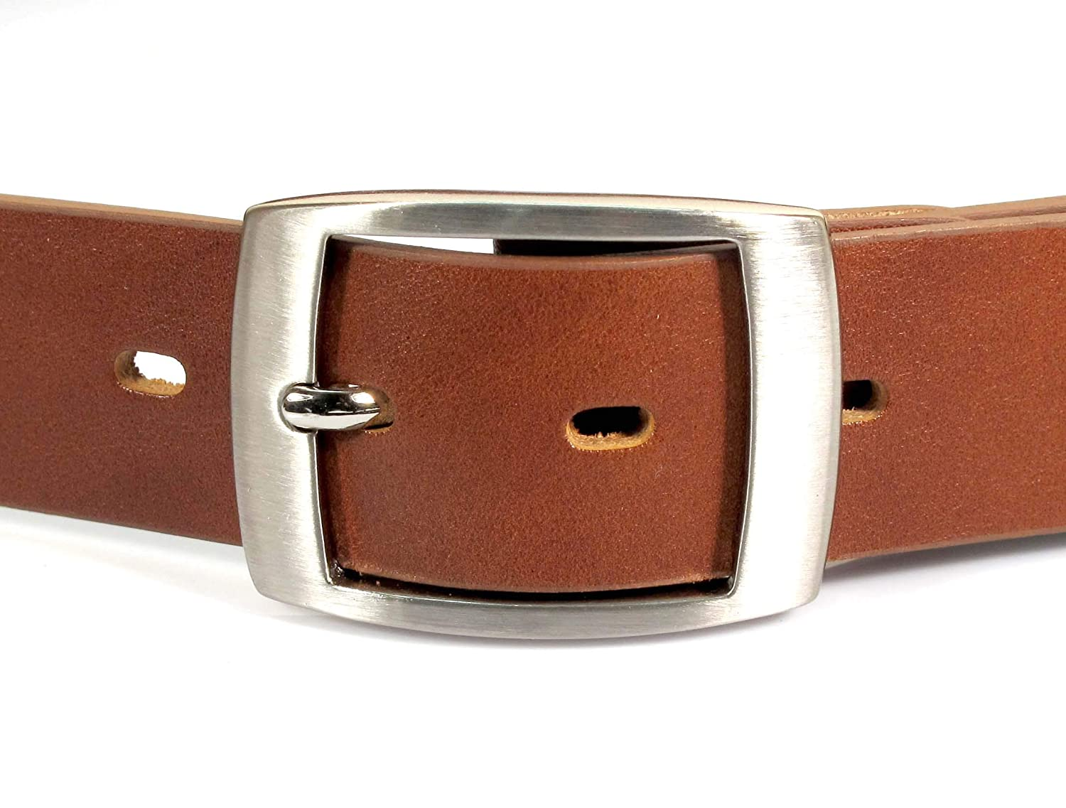 UM9 Mens Real Genuine Leather Tan Brown Belt 1.25 Wide S-XL Thick Casual Jeans