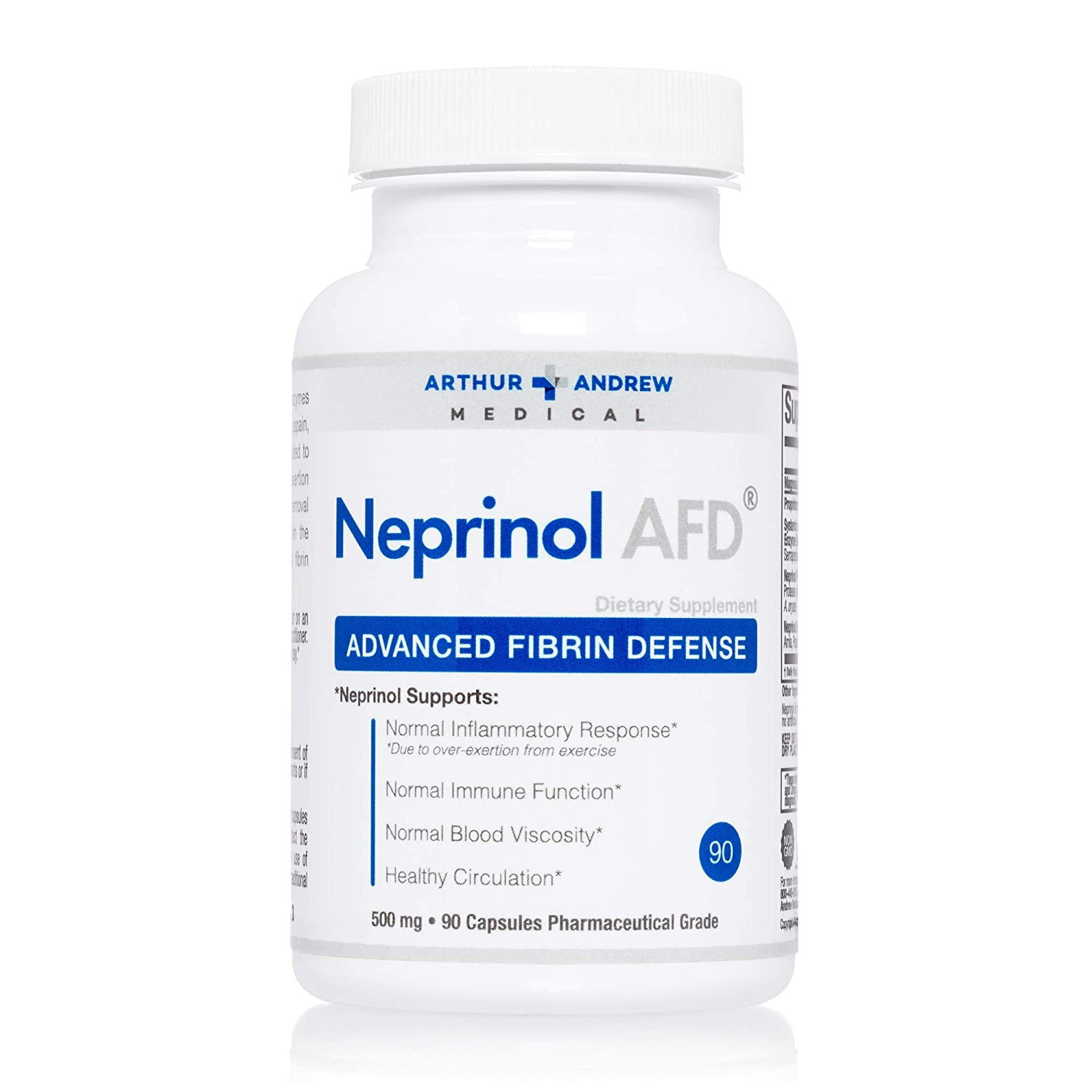 Arthur Andrew Medical - Neprinol, 500 mg, 90 capsules: Amazon.es: Salud y cuidado personal