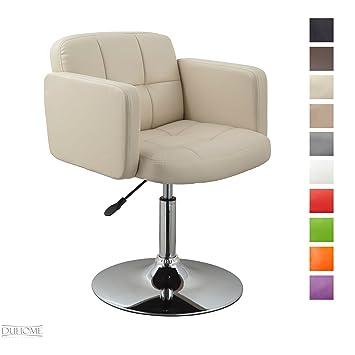 Lounge sessel drehbar  Clubsessel Sessel Kunstleder Creme Esszimmerstuhl Lounge Sessel ...