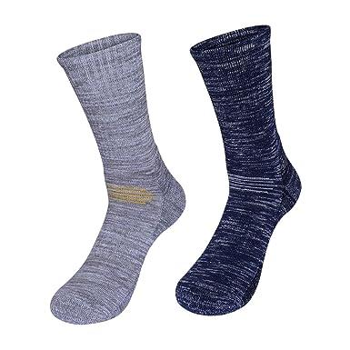 kamija Calcetines de senderismo y senderismo para hombre, suaves calcetines térmicos para entusiastas del aire libre: Amazon.es: Ropa y accesorios