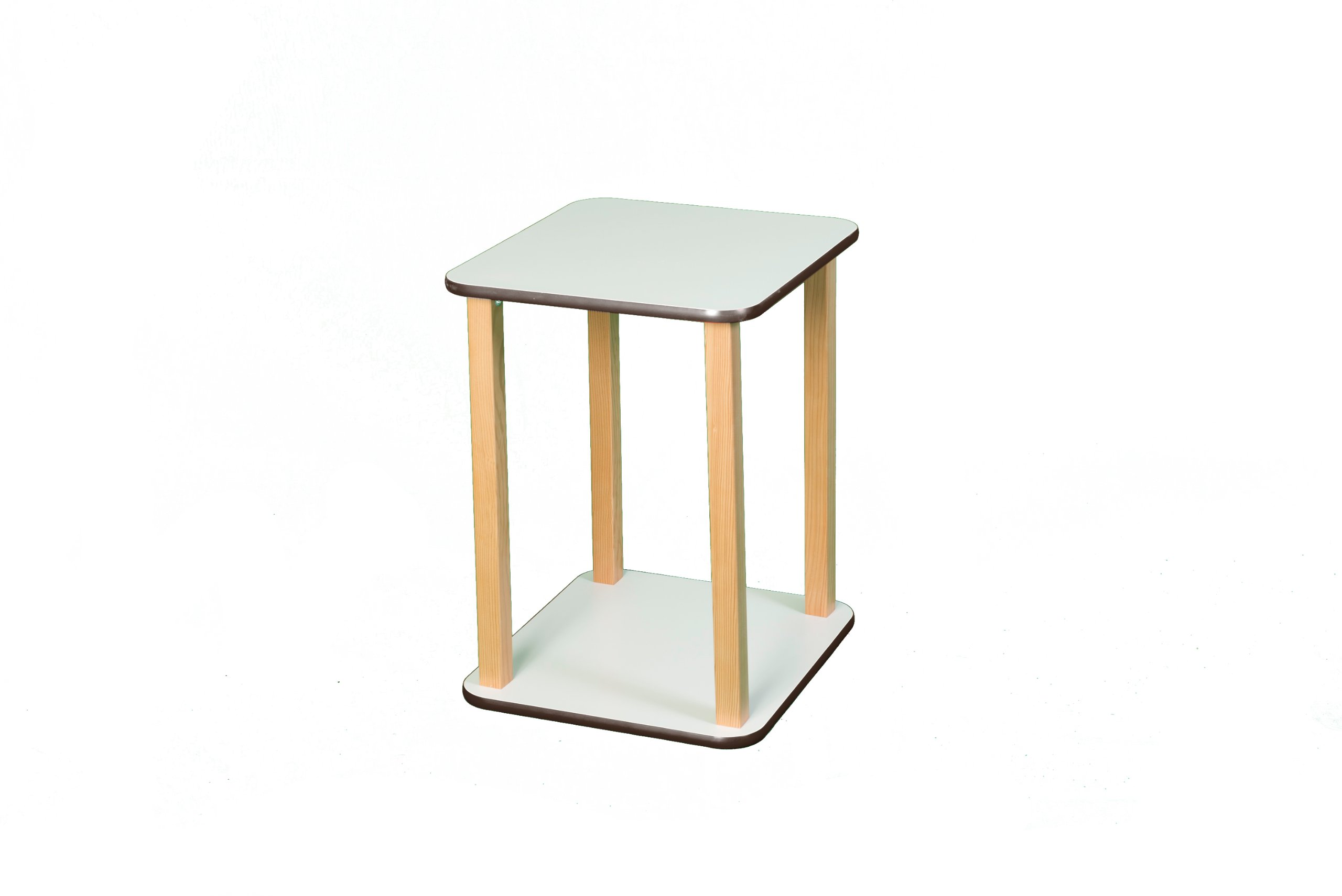 Wild Zoo Furniture CPU and Printer Stand, White/Brown