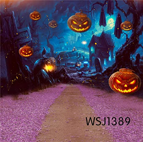 lb halloween backdrop for photography backgrounds 7x5ft vinyl halloween night flower road backdrop for party event