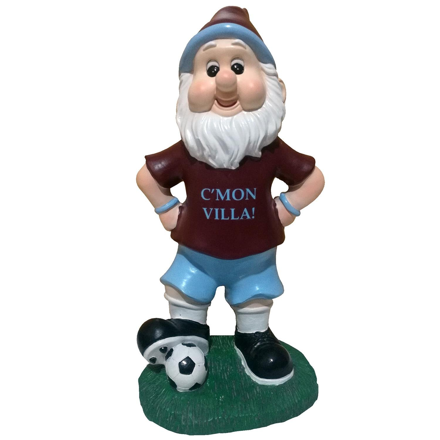 Aston Villa Colours Football Fan Claret & Blue Classic Garden Gnome Williams Connaught