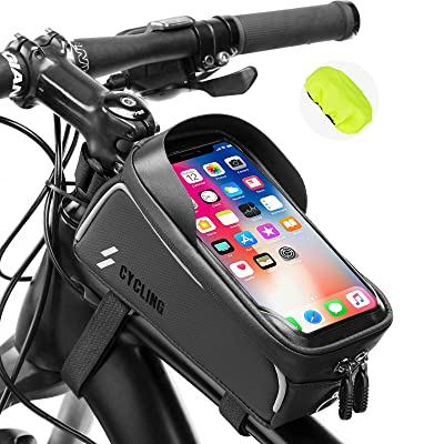 Waterproof Bicycle Phone Bag MTB Front Tube Touch Screen Bag Cycling Accessories
