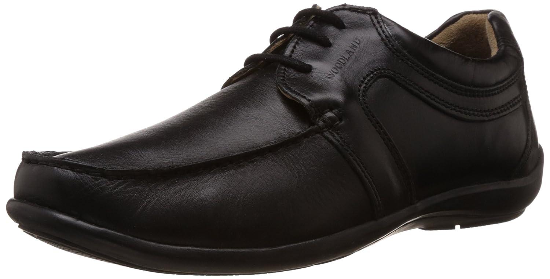 Buy Woodland Men's Black Leather Formal