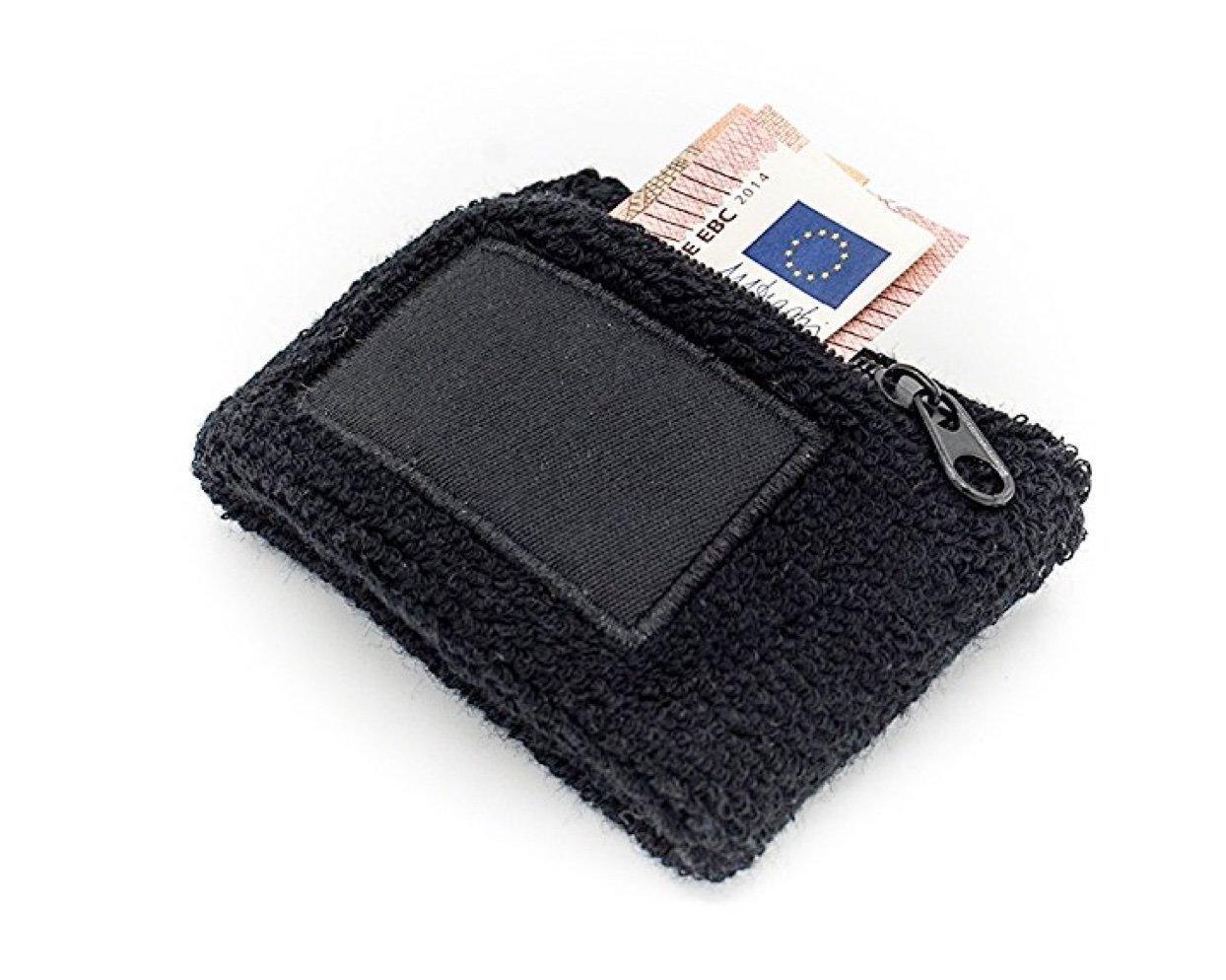 Wristband zip con il braccio la borsa e del polso con il sacchetto, Wristband con cerniera per gli uomini e le donne nere sport come jogging, corsa, tennis TK-Gruppe