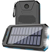 Solar Charger 20000mAh, Msnteta Portable Solar Power Bank with Compass and Flashlight,Dual USB Output and Waterproof…