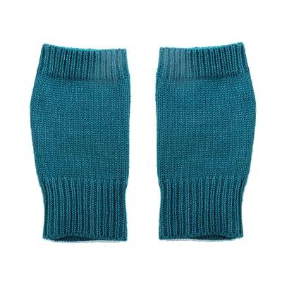 Accessoryo - dames câble sarcelle plaine tricoter des gants sans doigts d'hiver