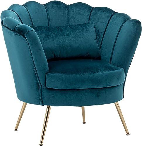 Living Room Accent Chair Modern Velvet Club Chair Comfy Reading Sofa Chair
