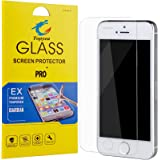 iPhone 5s Screen Protector Tempered Glass ,Ultra Slim Thin Clear Bubble Free Anti-scratch Anti-Fingerprint Oil Resistance 9H Hardness Curved Film for iPhone 5 5s