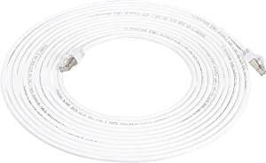 AmazonBasics RJ45 Cat 7 High-Speed Gigabit Ethernet Patch Internet Cable - White, 25 Foot