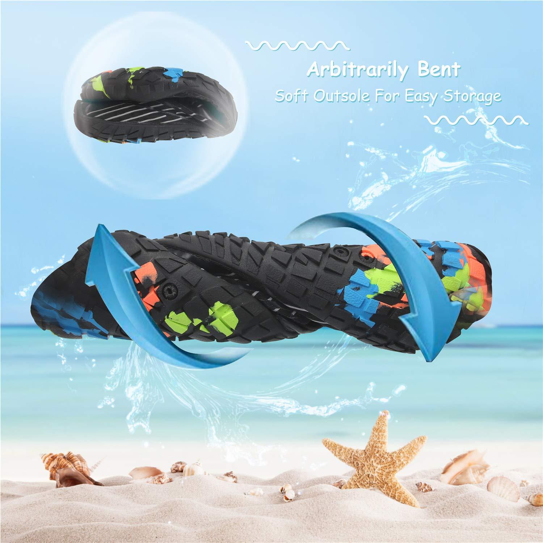 JIASUQI Womens Mens Summer Outdoor Beach Walking Swim Pool Water Shoes for Diving Boating