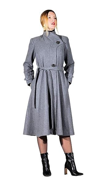 AdelaYdi - Abrigo Gris en Lana - Abrigo Elegante - Abrigo Mujer (34) 69b296ba839b