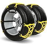 iRegro fácil de instalar neumático Cadenas nieve Cadena antideslizante, apto para la mayoría de coches / SUV / Truck-Conjunto de 6-Hop & Fly