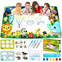 Large Water Drawing Mat for Kids Aqua Magic Water Doodle Drawing Mat Mess-Free, Non-Toxic, Eco-Friendly, Reusable 59…