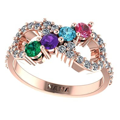 com rings polish ring amazon halfway mothers mix personalized slp cz sterling high and silver infinity match size