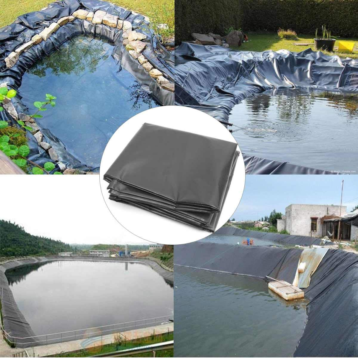 HDPE Fish Pond Liner 1.7x4m / 1.7x3m / 1.7x2m Garden Pond Landscaping Pool Reinforced Thick Heavy Duty Waterproof Membrane Liner (1.7x3 meter) by B2 YOU