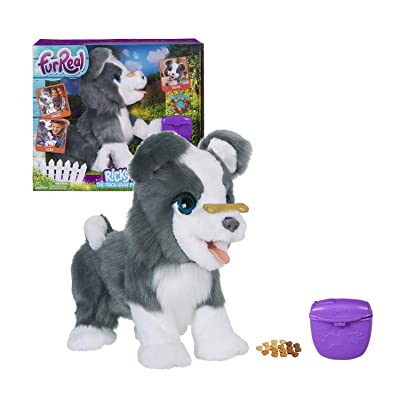 FurReal Friends Ricky, the Trick-Lovin' Interactive Plush Pet Toy, 100+ Sound-and-Motion Combinations, Ages 4 and Up: Toys & Games