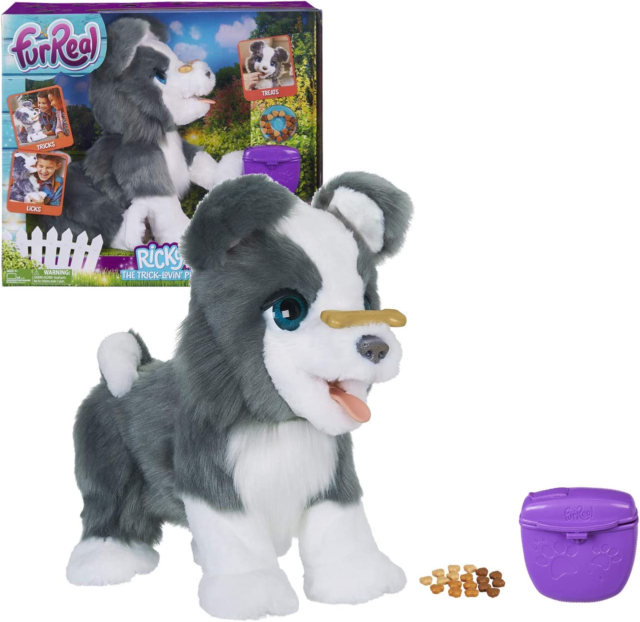 image of a furReal plush pet toy for girls, in a box.