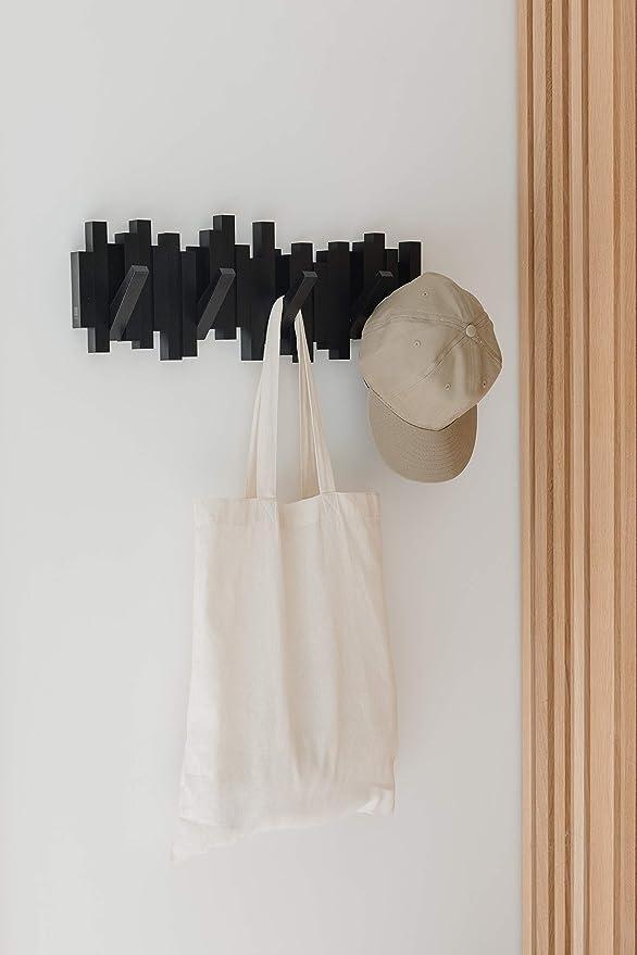 Umbra 318211-040 Perchero decorativo de pared Sticks Negro