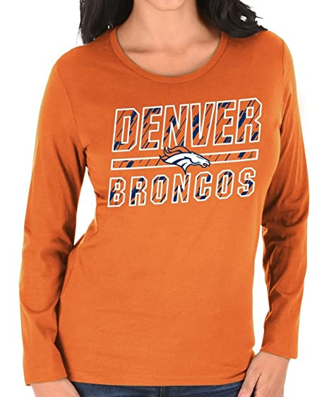 4b46e614 Amazon.com : Denver Broncos Women's Majestic NFL