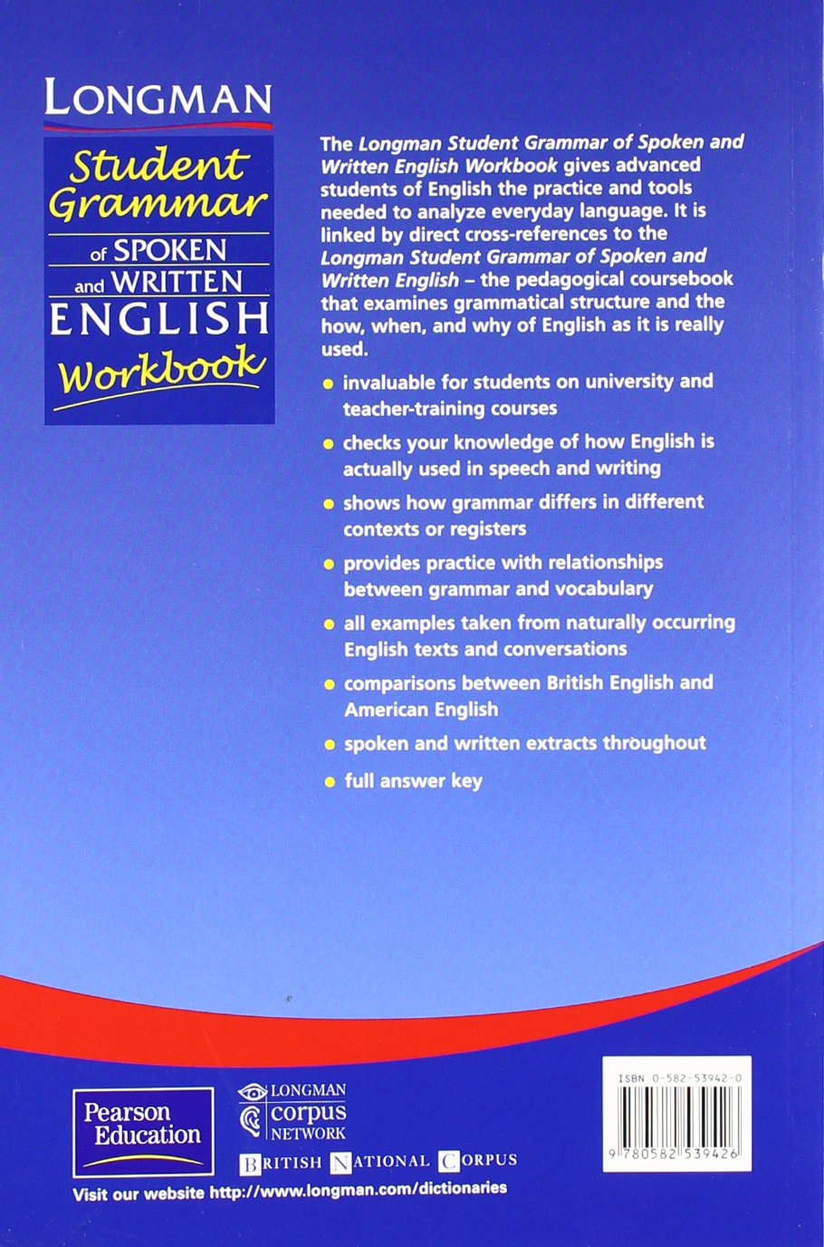 Student Grammar of Spoken and Written English: Workbook Grammar Reference: Amazon.es: Biber, Douglas: Libros en idiomas extranjeros