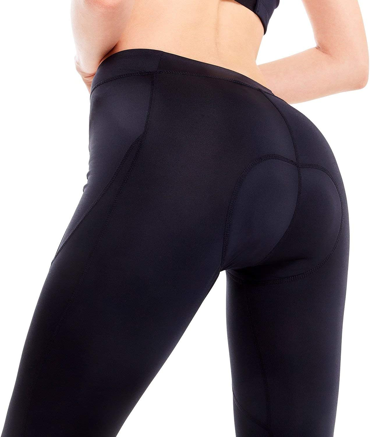BALEAF Womens 3D Padded Cycling Tights Exercise Bike Compression Leggings with Wide Waistband