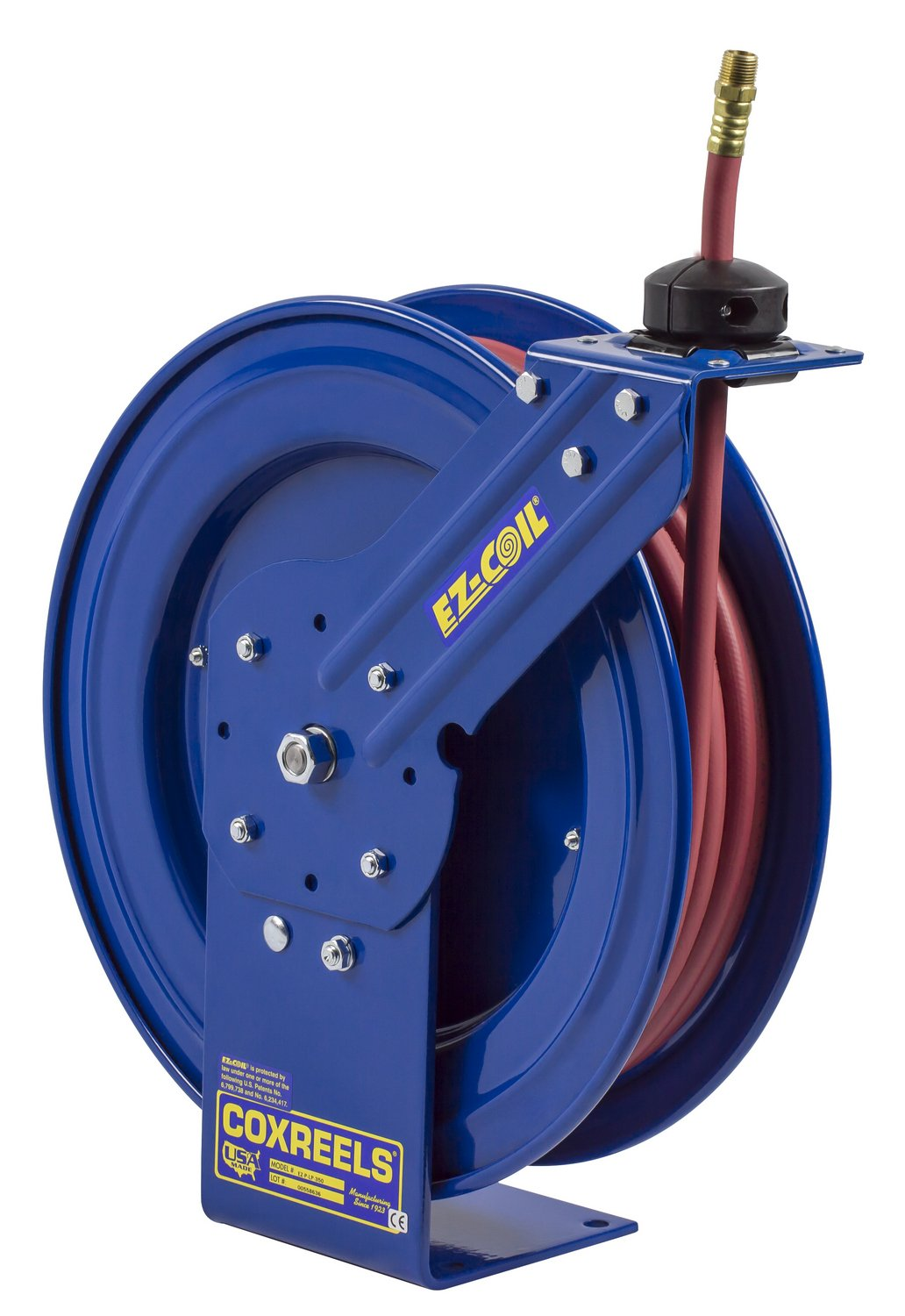 Coxreels Performance Safety Air/Water Hose Reel With Hose, Model# EZ-P-LP-325, 3/8'' Hose ID, 25' Length