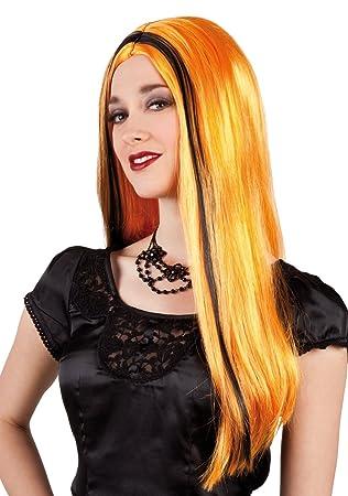 De Halloween sexy bruja peluca naranja Aurora