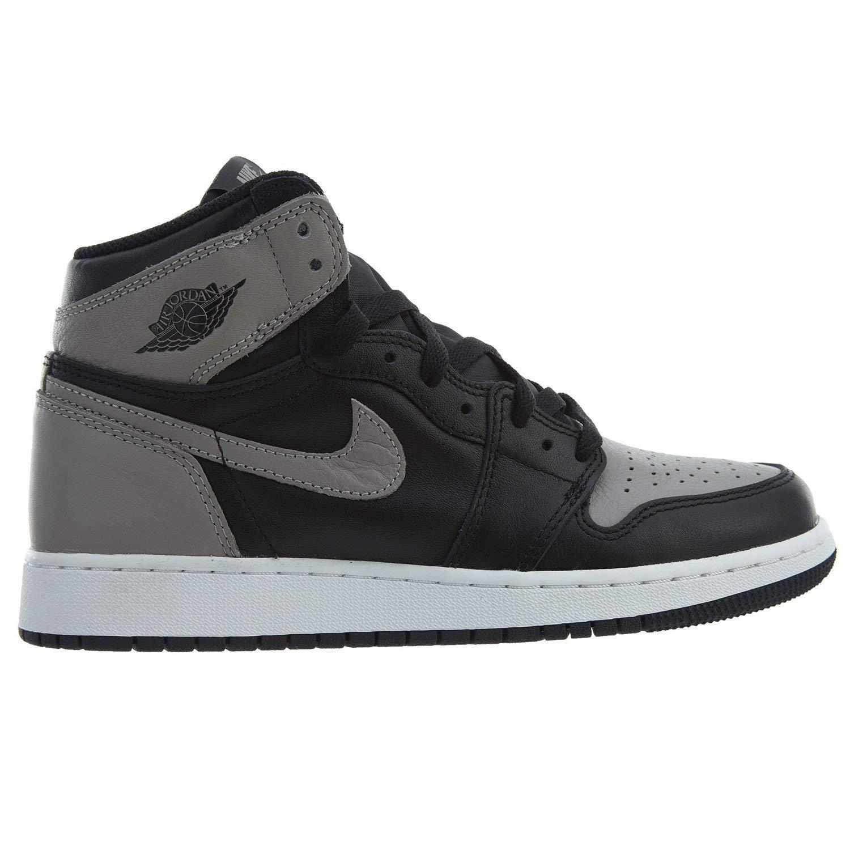 Nike Jordan Kid's Air 1 1 1 Retro High OG BG, schwarz Medium grau-Weiß, Youth Größe 3.5 42c4f3