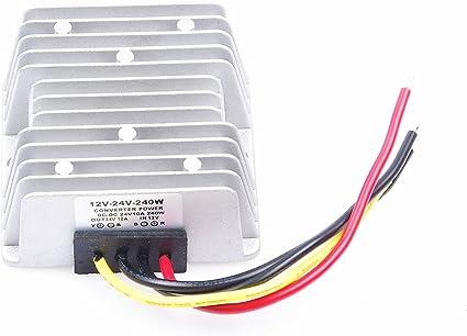 DC 12V Step Up To DC 24V 10A 240W Converter Regulator Car Power Supply Adaptor