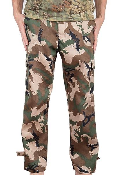 Amazon.com: Hioffer Pantalones de carga militar para hombre ...