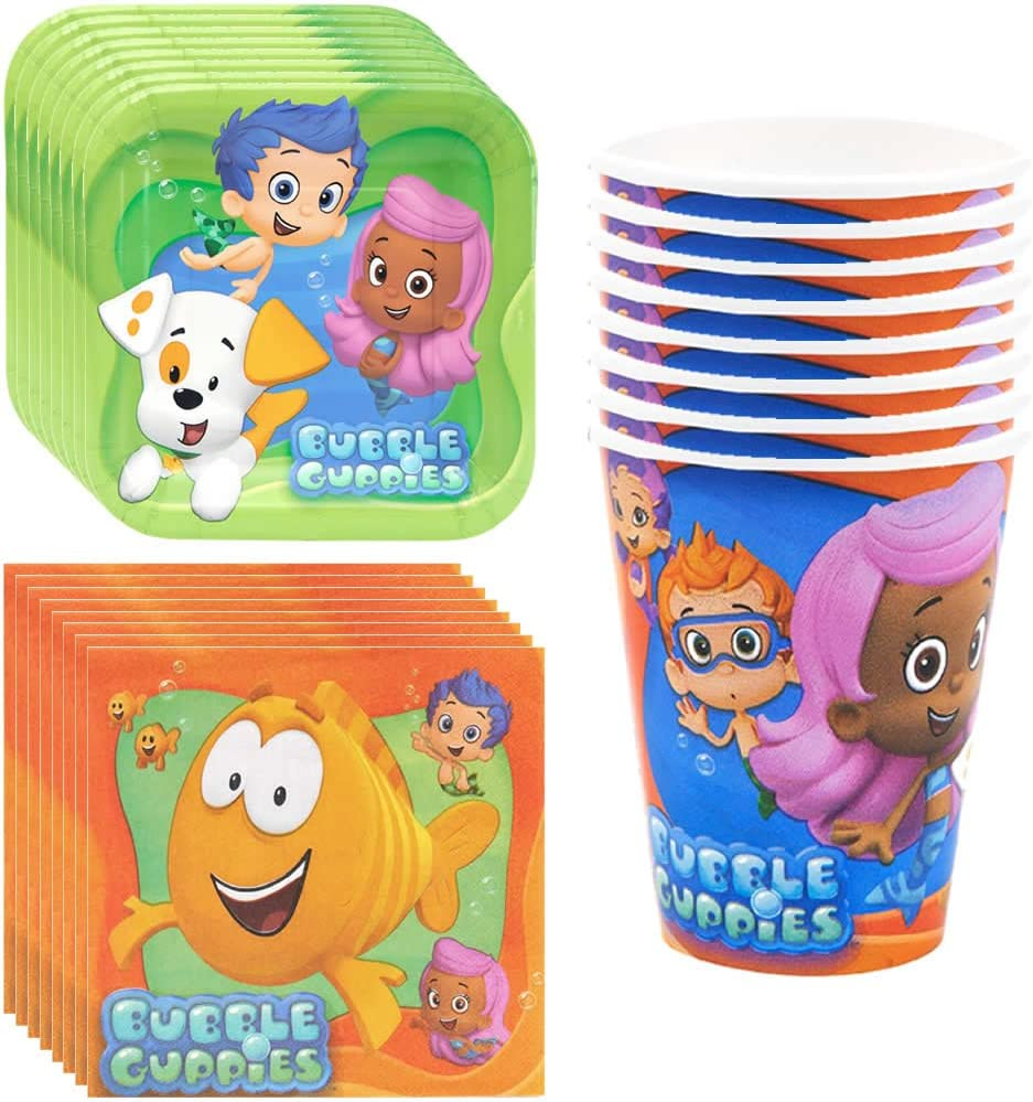 B00IFEX97Y amscan Bubble Guppies Party Supplies Pack Including Plates, Cups and Napkins - 8 Guests 71rQ9-vxLfL