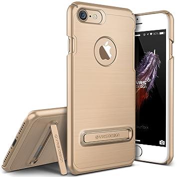 Carcasa VRS Simpli Lite Funda para Apple iPhone 7 | Estuche Protección Antichoque con Soporte Stand en Oro Brillante