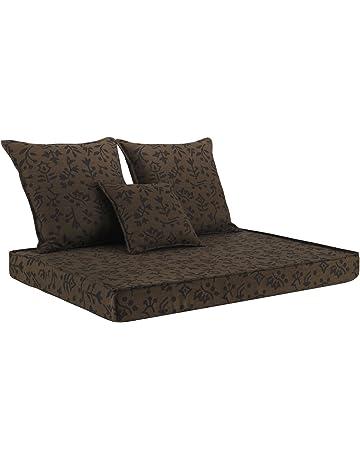 Cuscino Seduta 58X38H6 Ideale per POLTRONE E DIVANETTI da Interno E Esterno Oppure su Vostra Misura Personalizzate Beige