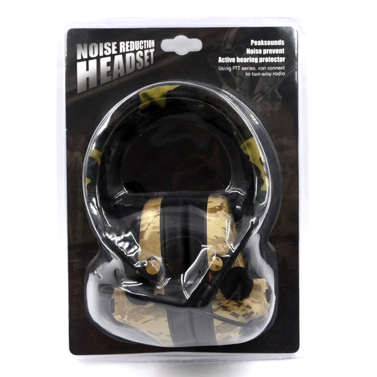 Electronic Earmuff Sport Hearing Protector for Hunting & Shooting, Sand Color by Dolphin (Image #9)