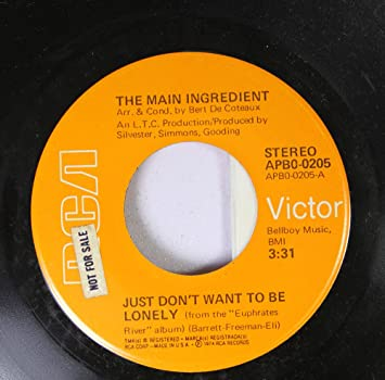 The Main Ingredient 45 Rpm Just Dont Want To Be Lonely Goodbye My